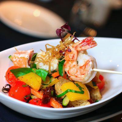 Seafoodspieß