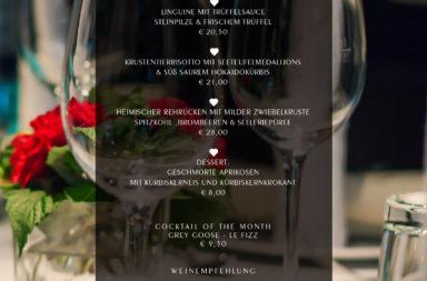 Wochenkarte - Ab 9. Oktober - HEART Restaurant & Bar München
