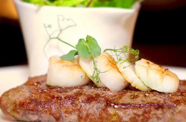 US Roastbeef mitAtlantik Jacobsmuscheln & Meersalzschalotten