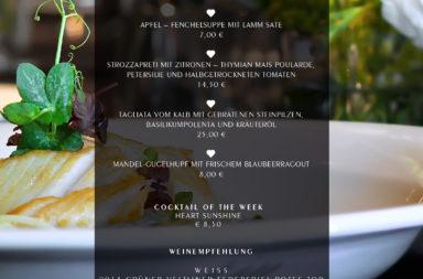 Wochenkarte ab 30. Juli - Proteinreiche Gerichte für die Strandfigur.