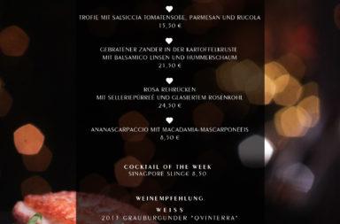 Schlemmerkarte zum Jahresbeginn ♡ - HEART Restaurant & Bar