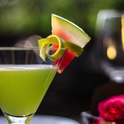 Gin Basil mit Vermouth und Watermelon
