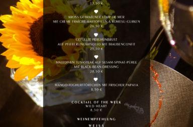 Kulinarische Highlights auf der ♡ Wochenkarte (1. Juli)
