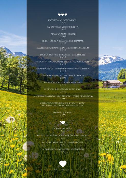 Speisekarte - Murnau Werdenfelser Rind