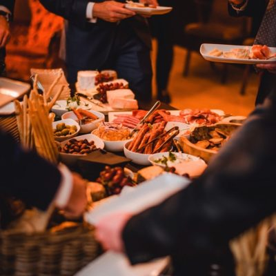Buffet von Hearthouse Chef de Cuisine Florian Gürster