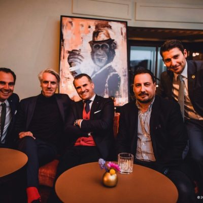 Dr. Dominik Pförringer (Facharzt für Orthopädie und Unfallchirurgie am Klinikum Rechts der Isar), Tom Junkersdorf (Chefredakteur GQ), Jens Ciliax (Brand General Manager Clinique and Origins at The Estée Lauder Companies Inc.), Alex Gernandt (Chefredakteur RIZE) und Adem Schuster (Head of Marketing Hearthouse)